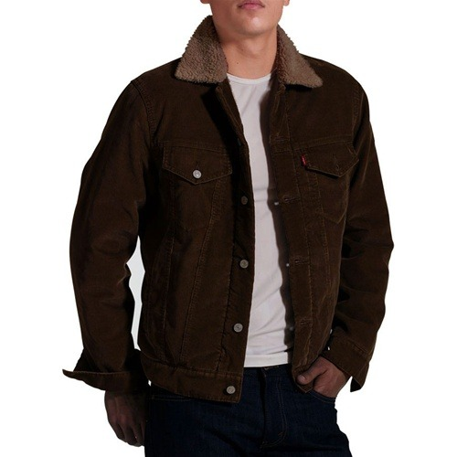 Мужская Куртка 70598-0010 Men Sherpa Trucker Jacket