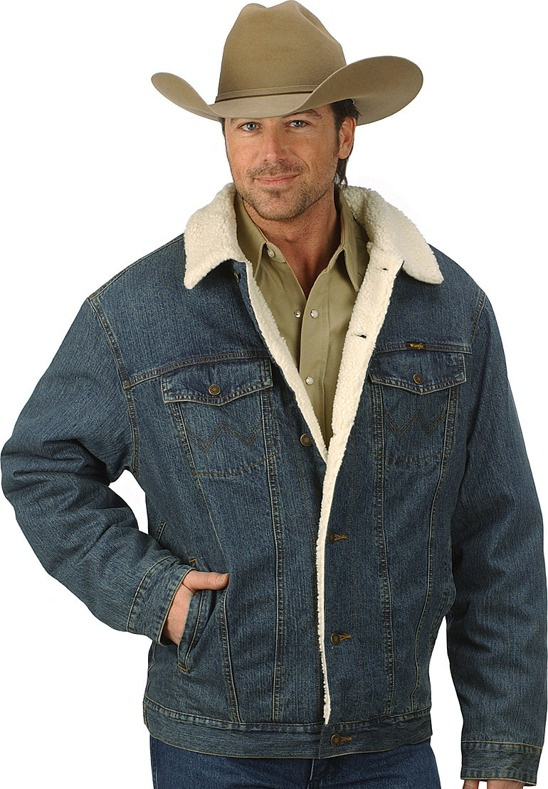 Мужская куртка Wrangler 74256RT Western Styled Shepra Lined Denim Jacket Rustic