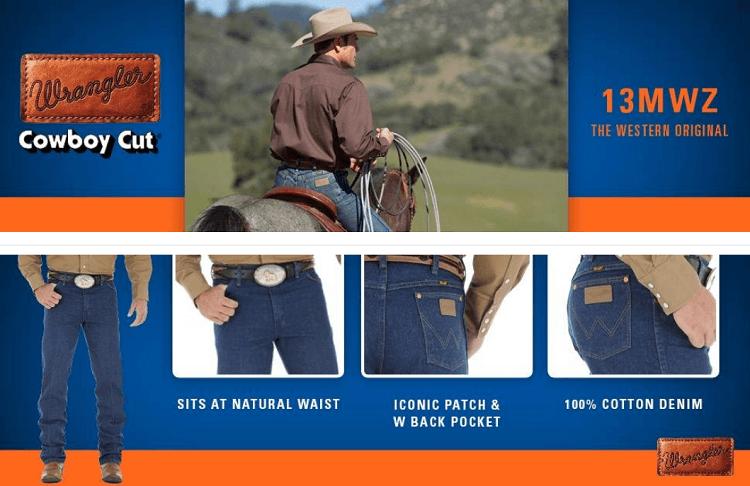 Мужские джинсы Wrangler 13MWZ