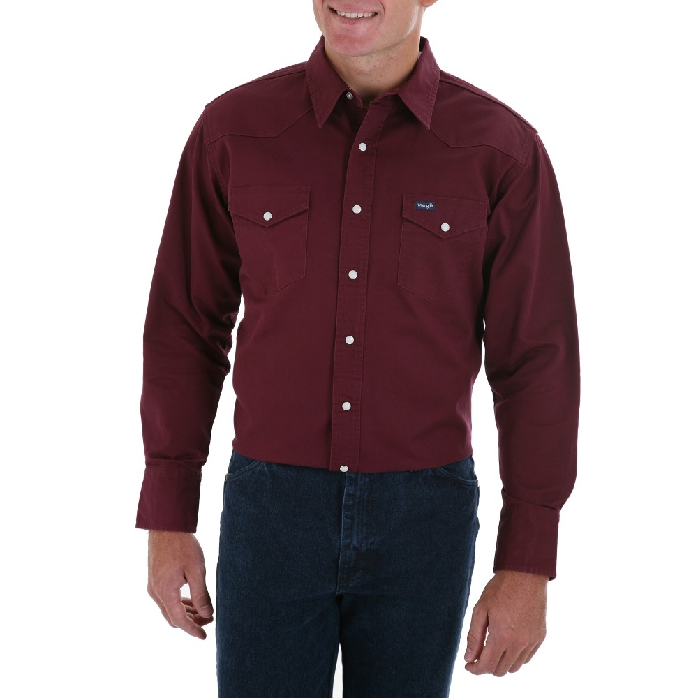 Мужская рубашка Wrangler MS70719 Mens Red Oxide Cowboy Cut Twill Shirt