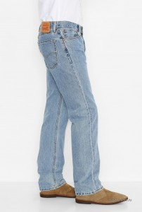 Мужские джинсы Levi's 505 Men's Regular Fit Jean - Light Stonewash 00505-4834