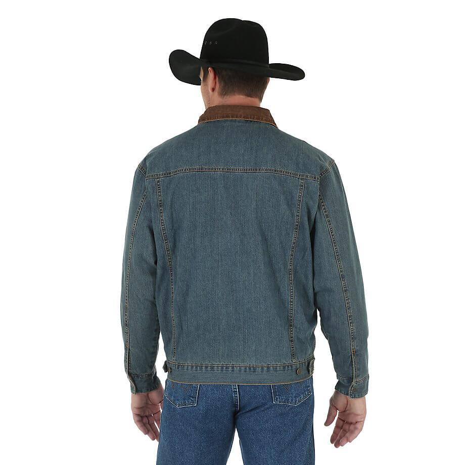 Мужская Куртка Wrangler 74265RT Blanket Lined Denim Jacket Rustic