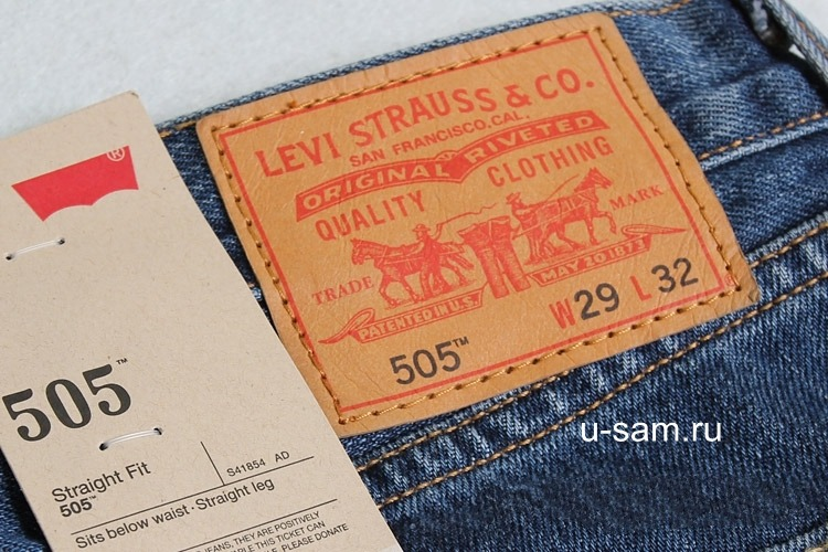 Мужские джинсы Mens Levis 505™ Straight (Regular) Fit Jeans 00505-4886 Dark Stonewash www.u-sam.ru