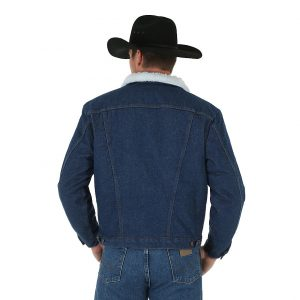 Мужская Куртка Wrangler 74255PW Western Styled Shepra Lined Denim Jacket