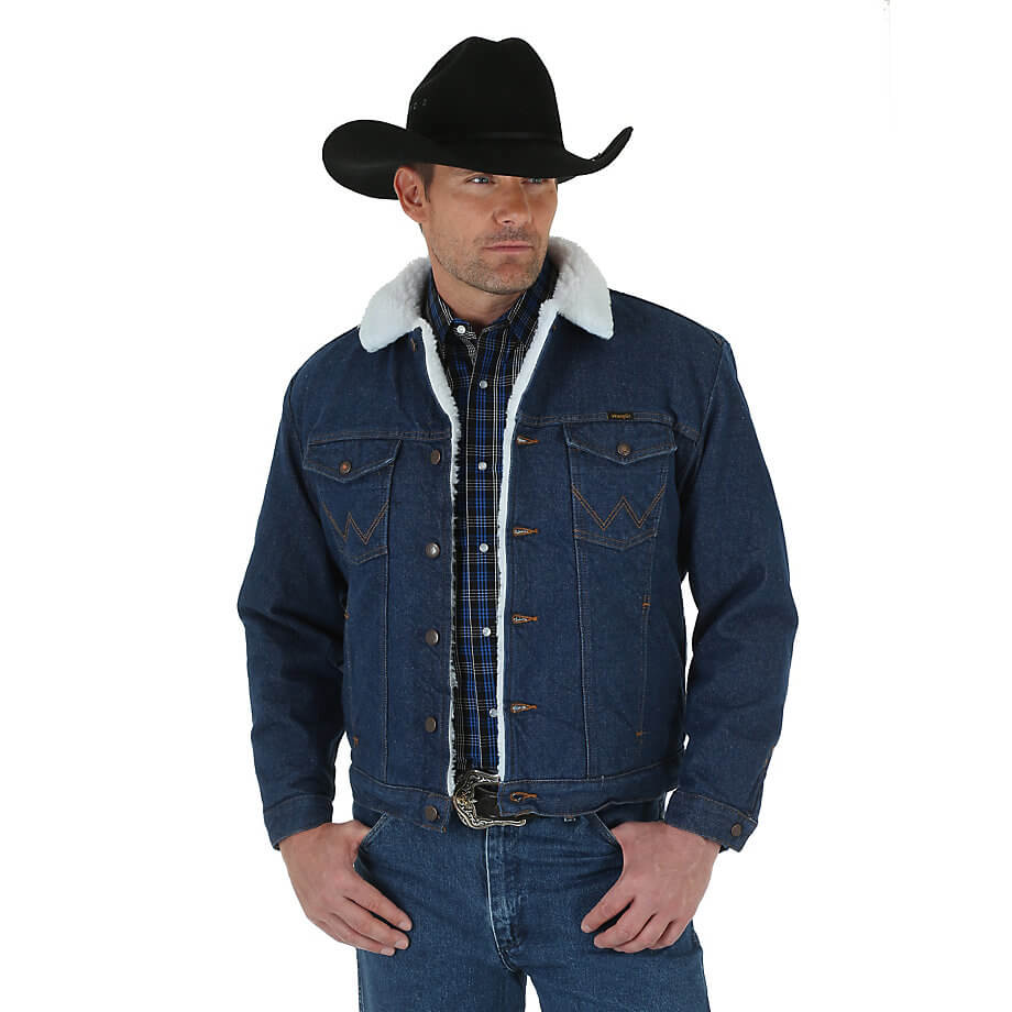 Wrangler® Western Sherpa Lined Denim Jacket 74255PW