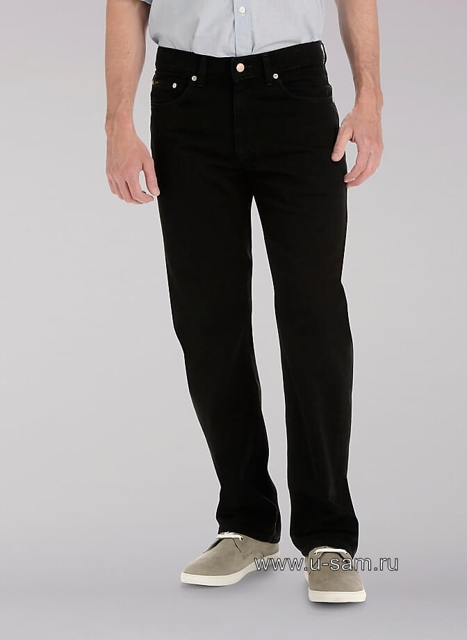 LEE Premium Select Regular Straight Leg Jeans Double Black 200-1952