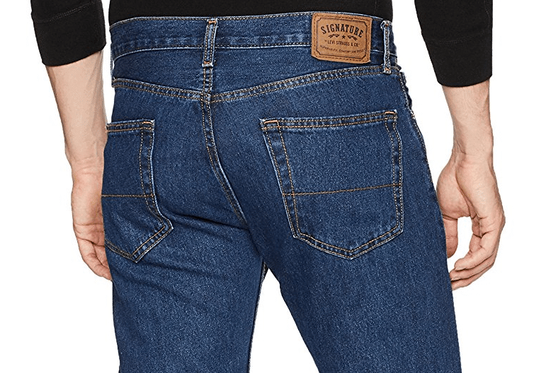 Мужские джинсы Signature by Levi Strauss & Co Regular Fit Dark Stonewash 2