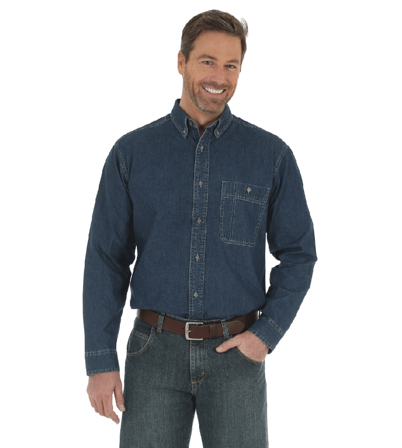 Wrangler Rugged Wear® Denim Basic Shirt Dark Wash RAL08DW