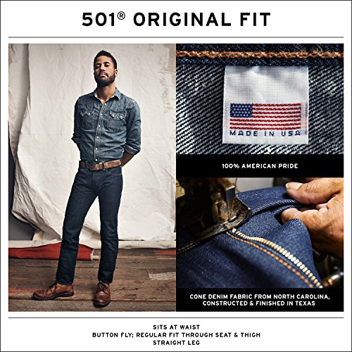 501 Made in The USA Original Fit Jean Black
