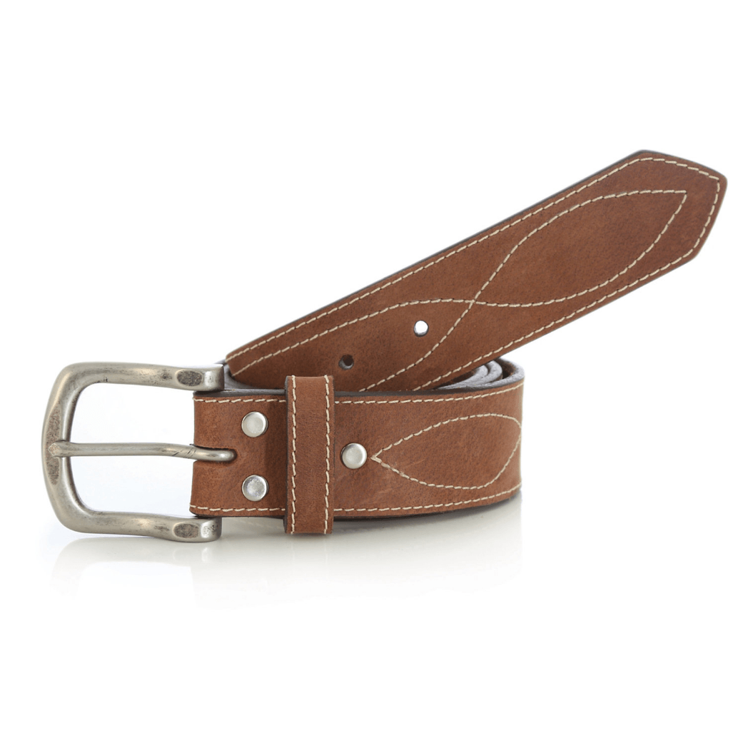 Wrangler Rugged Wear® Belt Decorative Figure Eight Stitch Tan RWB601T