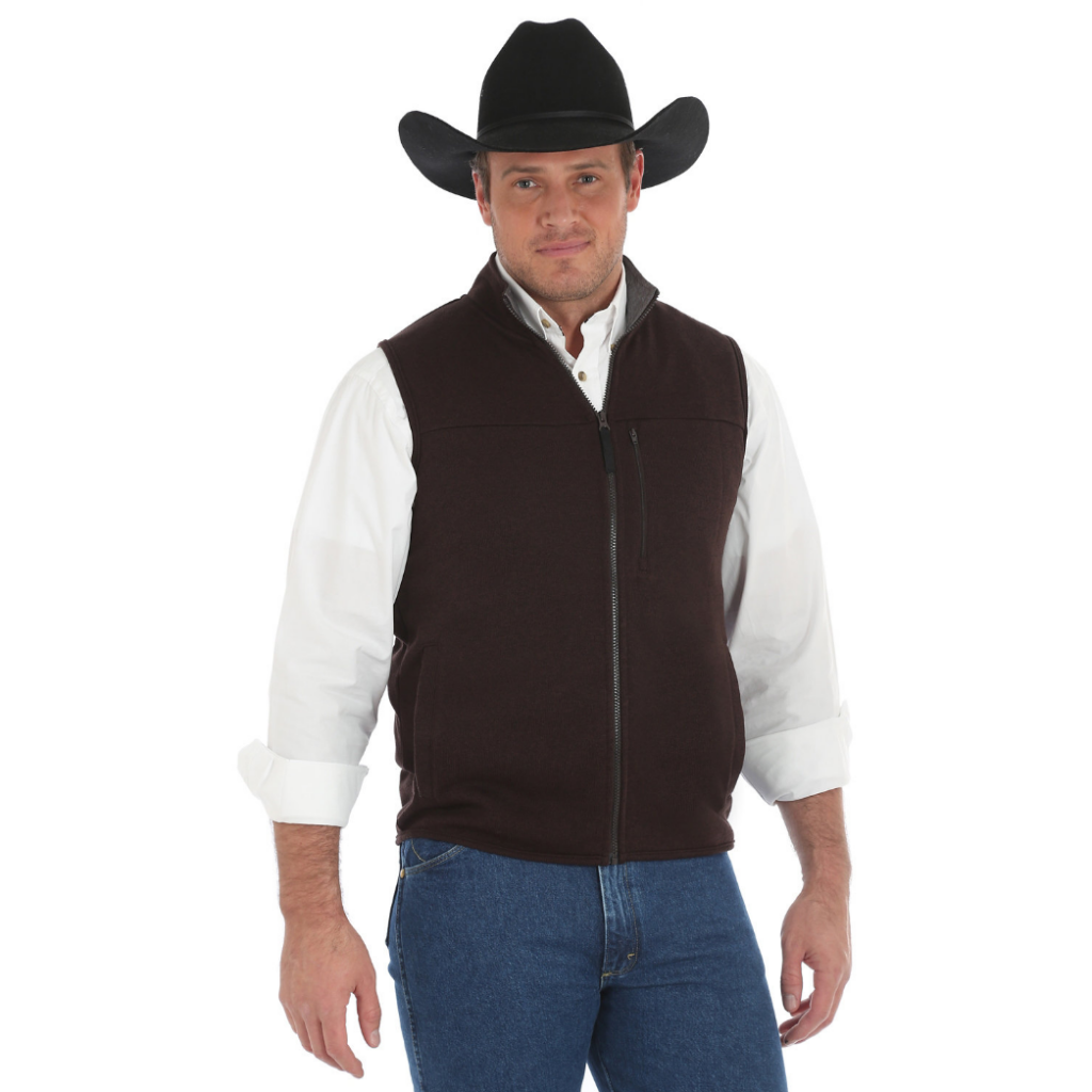 George Strait Knit Vest Brown Heather MGSK49E