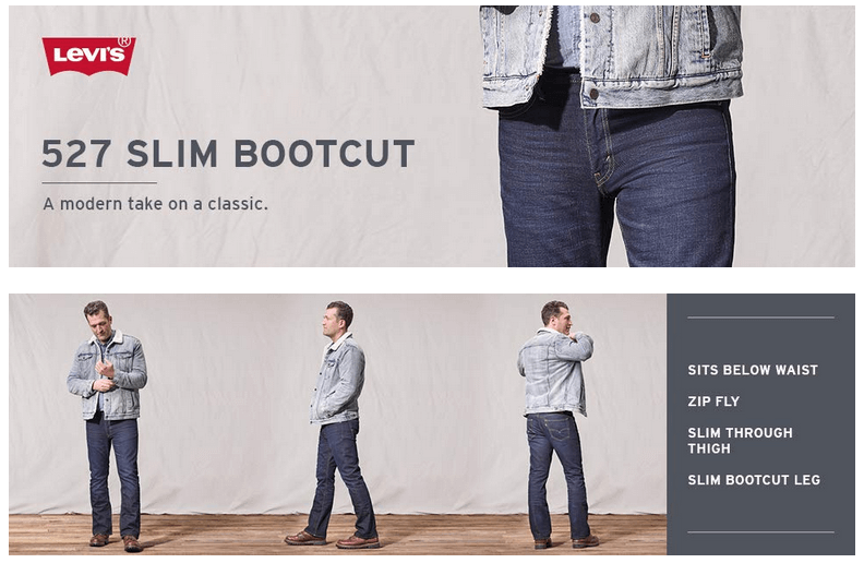Джинсы Levi's 527™ Slim Boot Cut Jeans